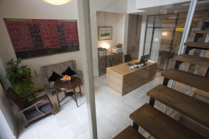 overlooking entrance hall